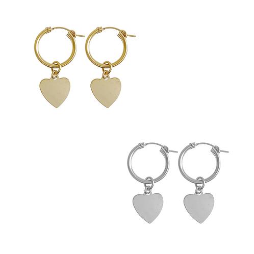 Misuzi- Paris Hoop with Avery Heart earring