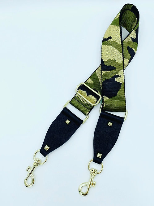 Bag Straps- Khaki/Gold Camo