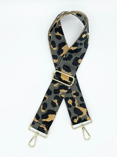 Bag Straps- Grey Leopard