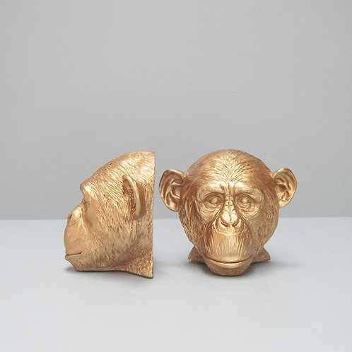 Monkey Bookends-Gold