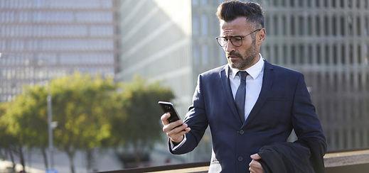 Businessman-got-debt-collection-text-mes
