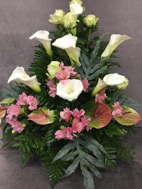 Composizione fiori freschi media