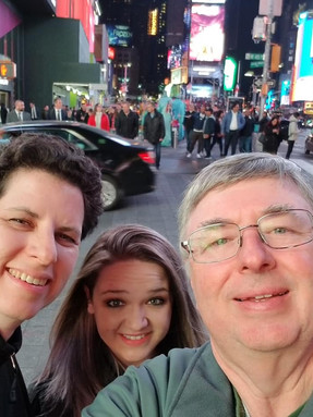 Dr. Dickson, his wife and daughter in New York City