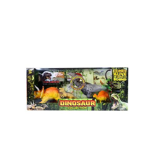 Set Dinosaurio Plastico Sonido 90-1