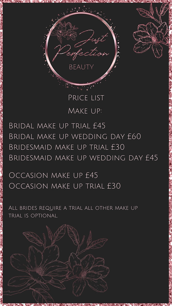 Just Perfection Make Up Price List