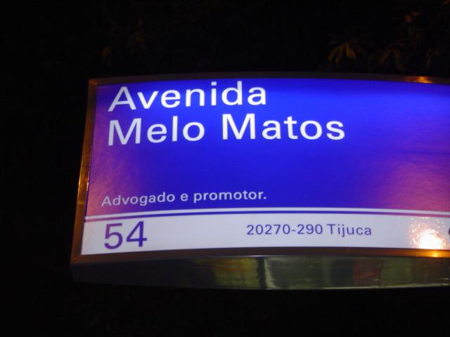 Avenida Melo Matos