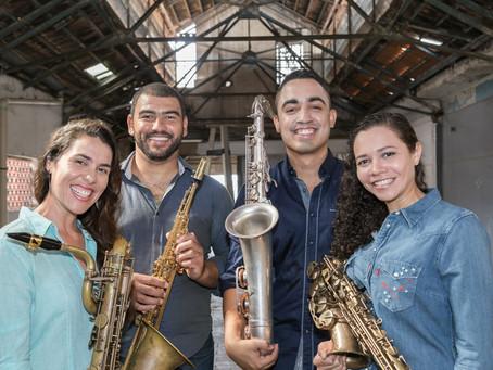 CMCAT - 08/10/2020 - Quarteto de Saxofones Quartessência (pelo Youtube)