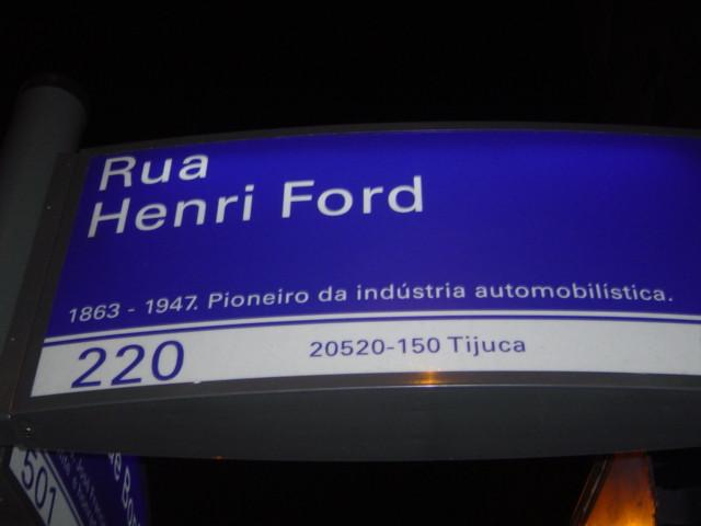 Rua Henri Ford