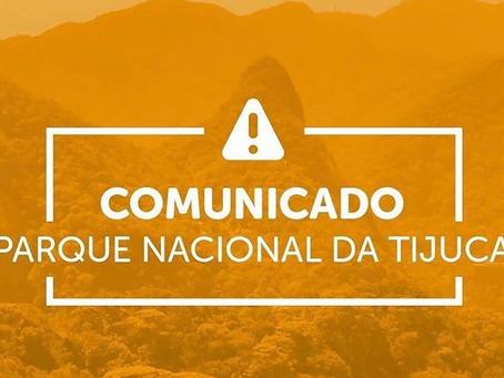 COMUNICADO - PARQUE NACIONAL DA TIJUCA