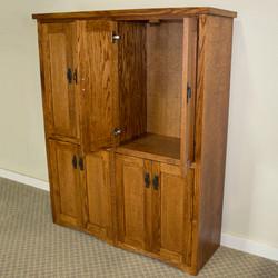 Custom Mission Bookcase w/ Doors