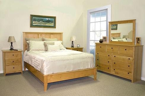 alder shaker style oakcraft bedroom queen northwest oregon