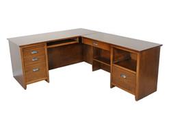 Shaker Desk w/ Return in Brown Maple