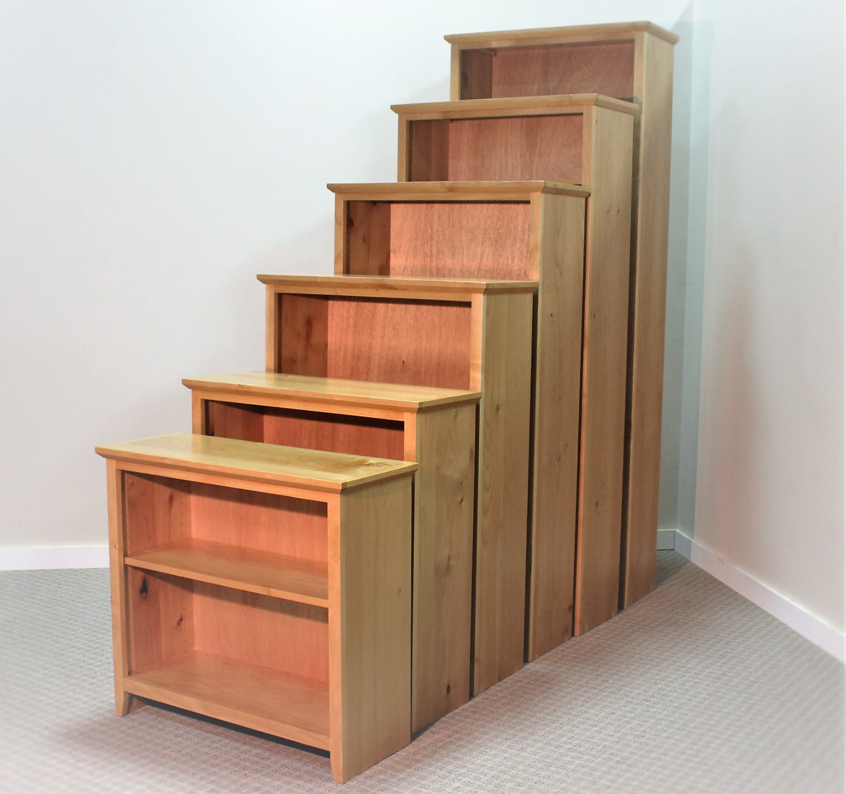 Alder Natural Shaker Bookcases