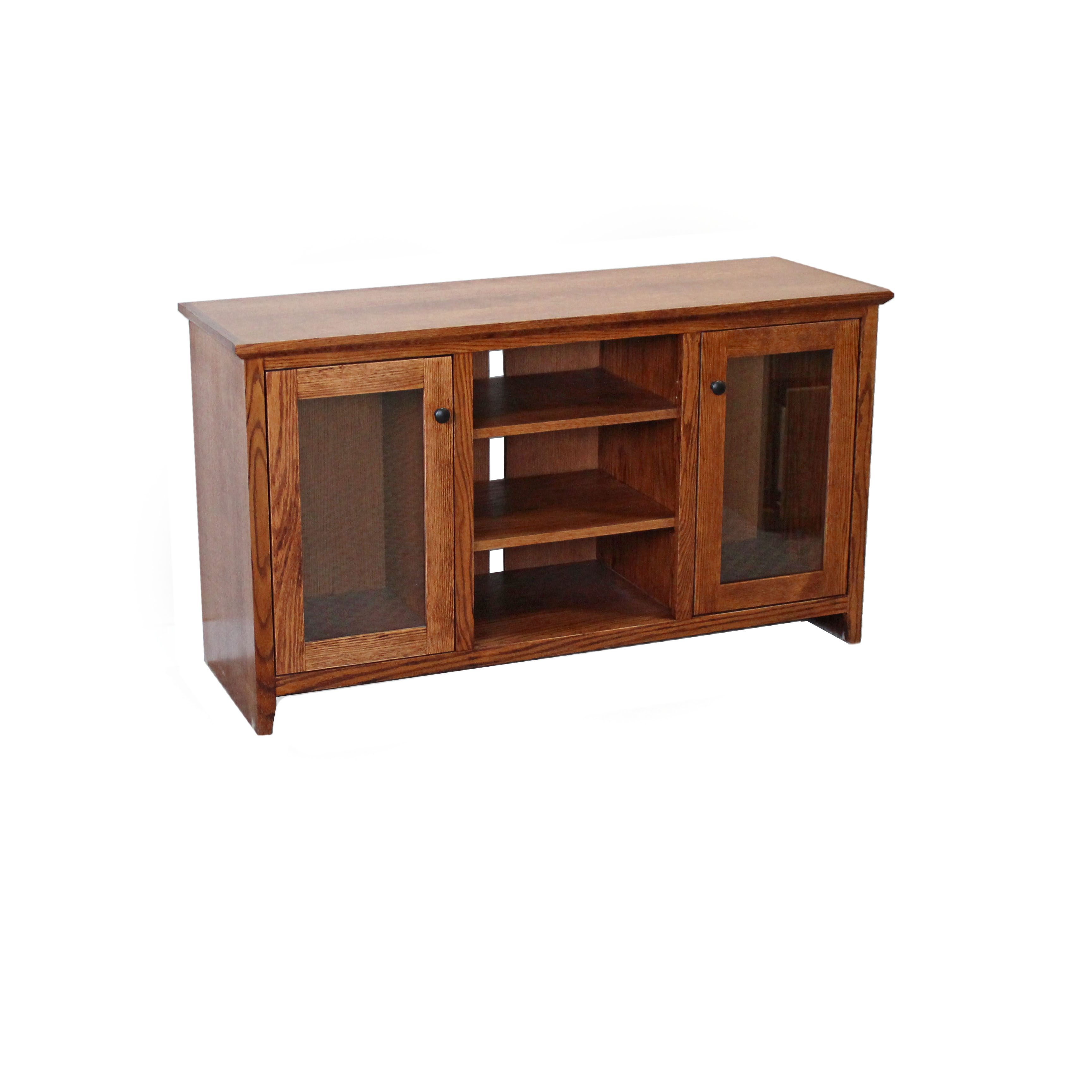 Oak Shaker TV Console w/ Glass