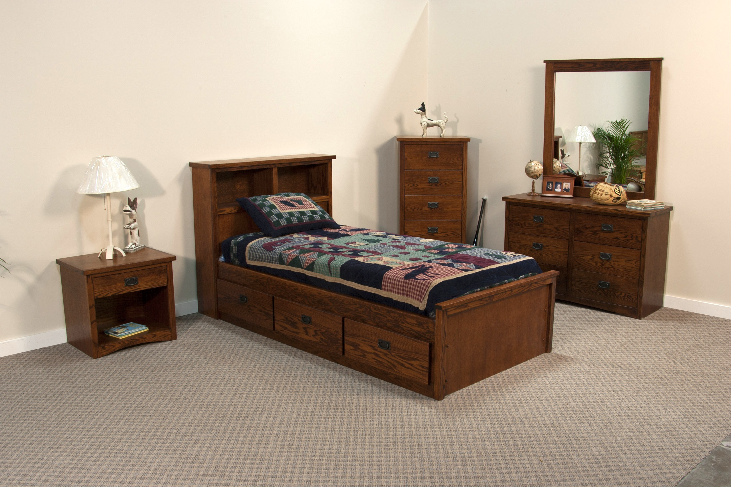 Mission Twin Size Captains Bed