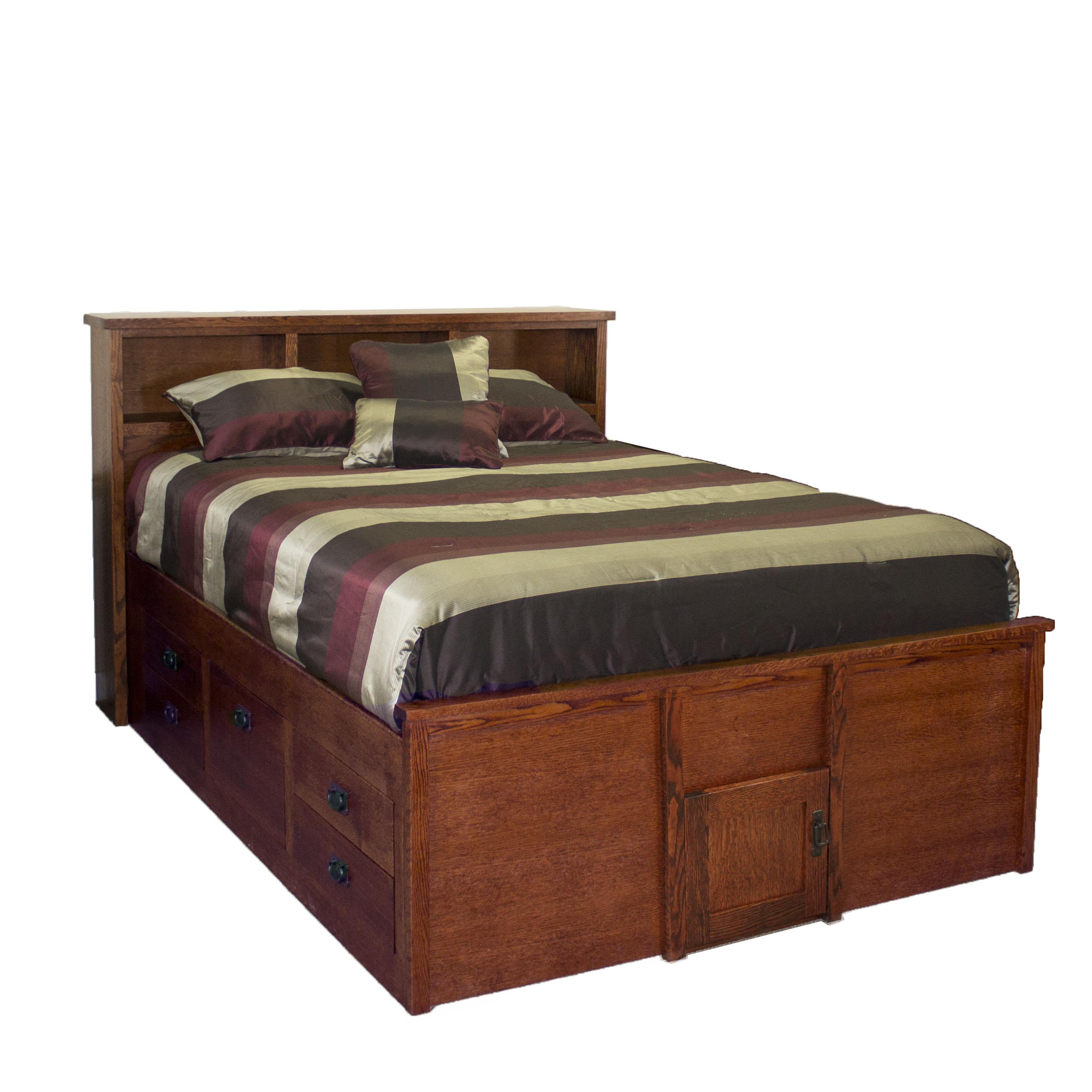 Queen Captains Bed w/ Storage Ftbd