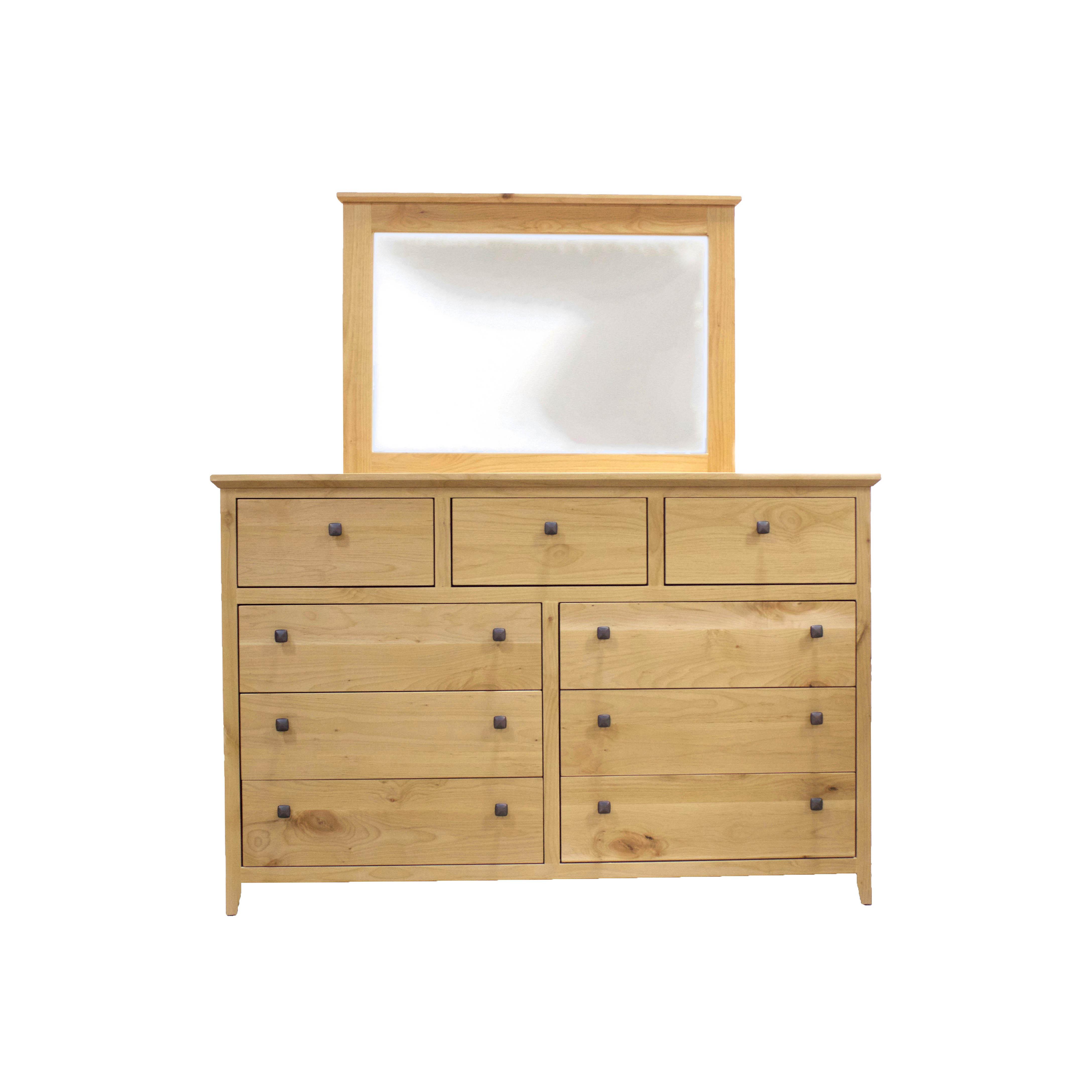 Alder Shaker 9-Drawer Dresser