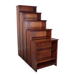 Alder Cherry Shaker Bookcases