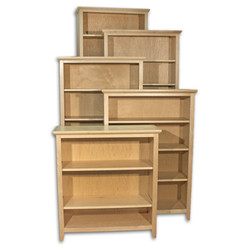 Maple Natural Shaker Bookcases