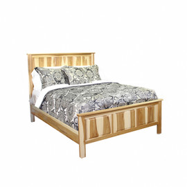 Hickory Queen Panel Bed w/ full ftbrd