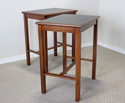 Brown Maple Side Table Set