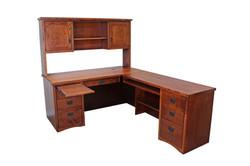 Mission L-Shaped Desk & Hutch