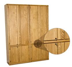 Oak Contemporary Bookcases w/ locks