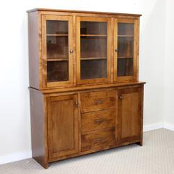 Maple Shaker w/ Glass Doors Cabinet