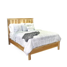 Hickory Queen Panel Bed w/ short ftbrd