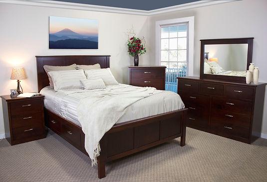rail storage drawer maple urban style oakcraft bedroom queen northwest oregon