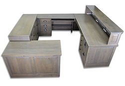 Driftwood Alder Shaker Reception Desk
