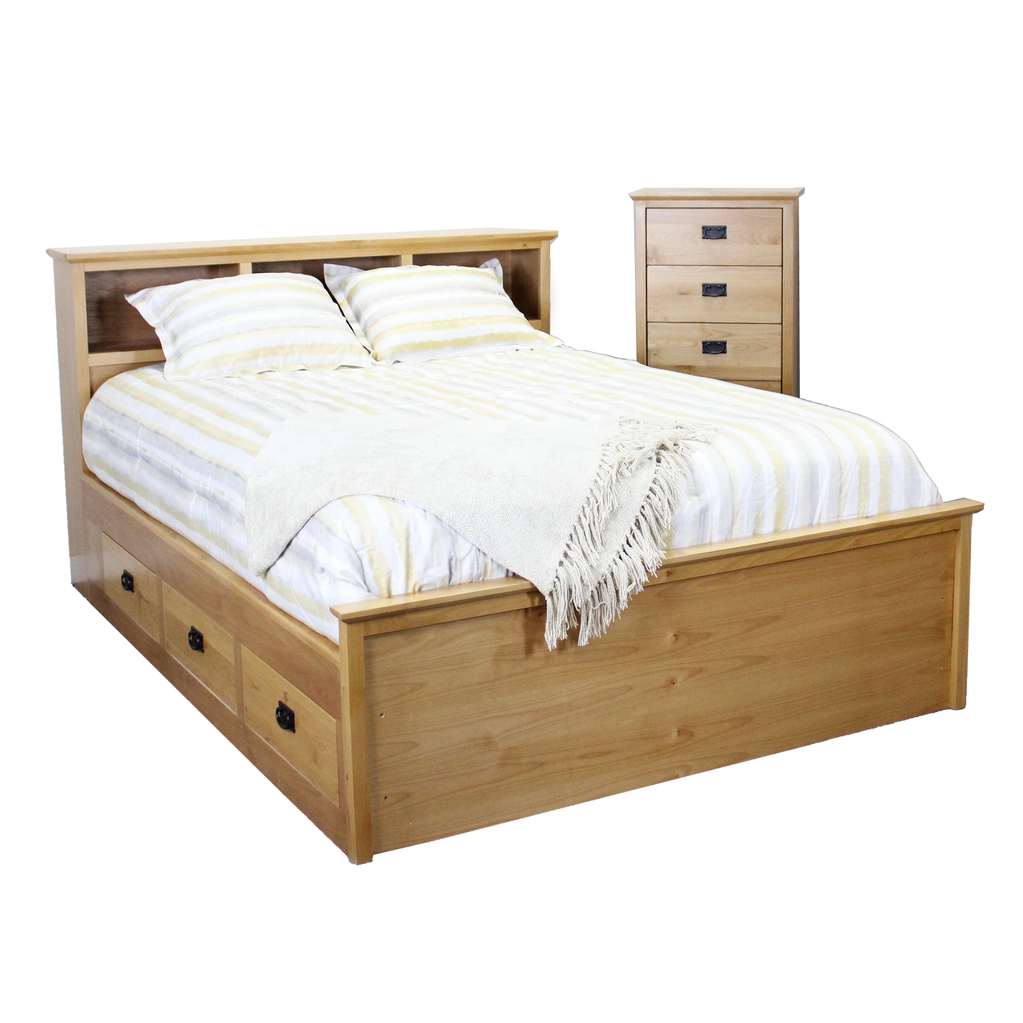 Shaker Queen Captains Bed 6-Drw
