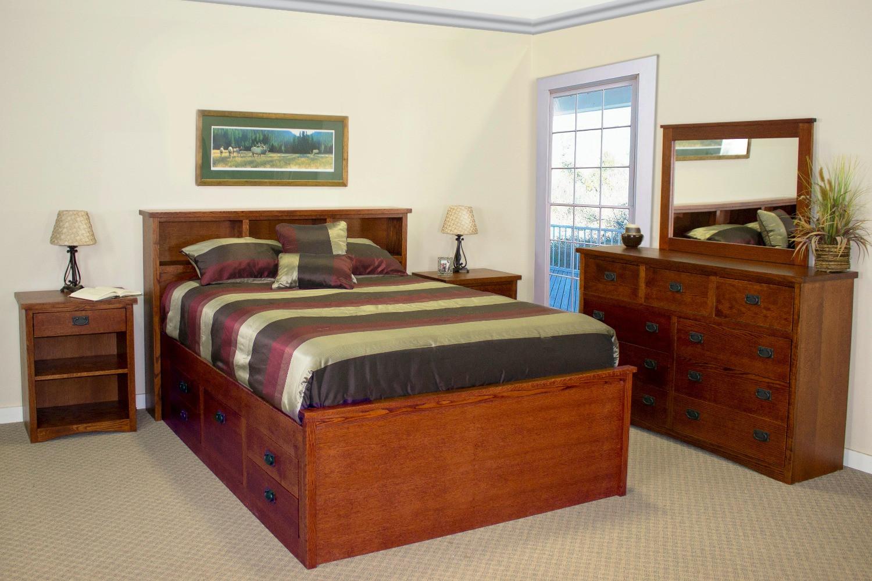 mission bedroom  oakcraft furniture  united states