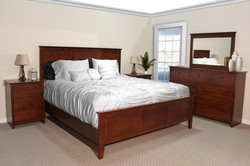 Maple Shaker King Bedroom in Brown