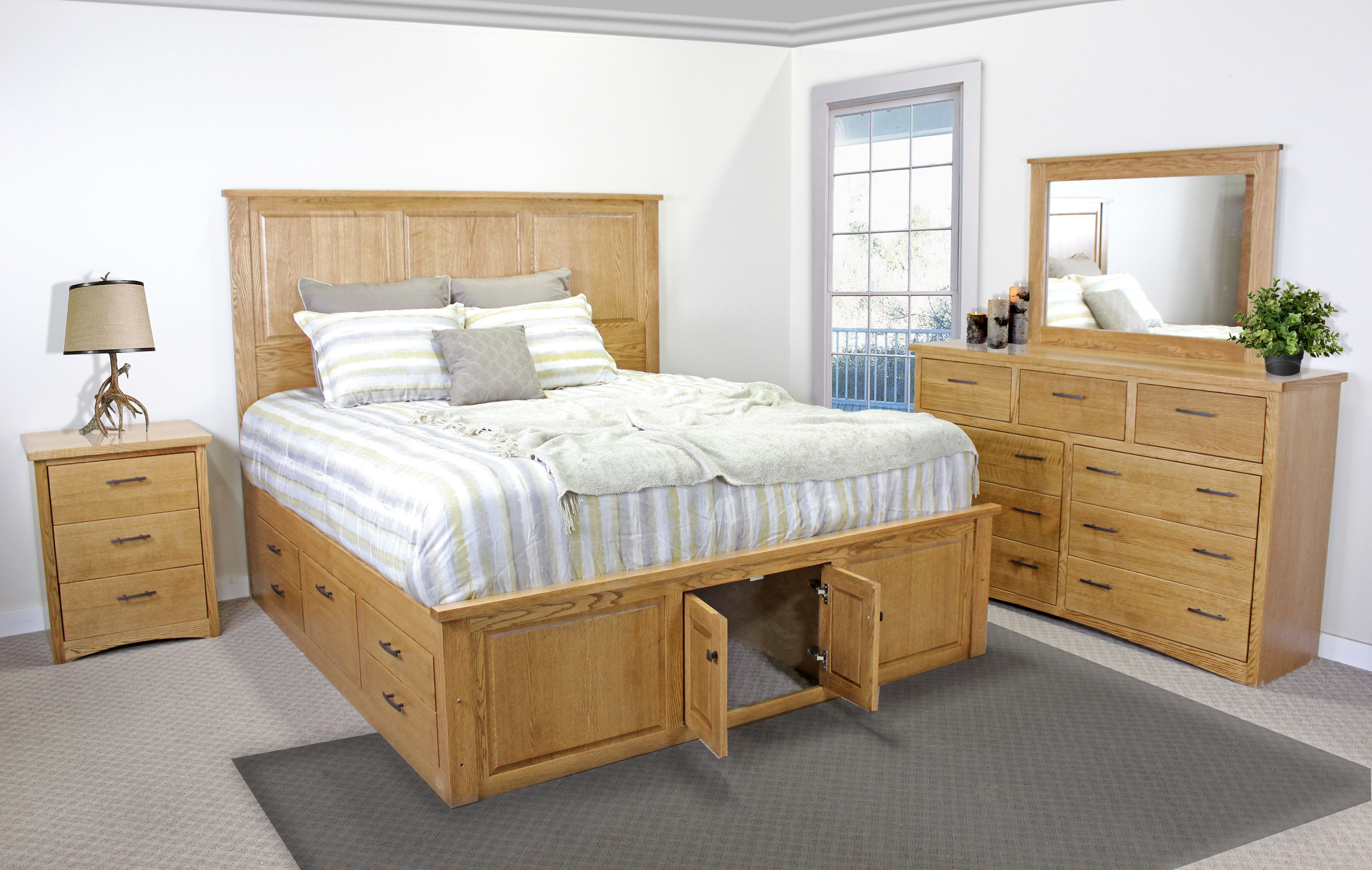 King Captains Bed-Storage Footboard