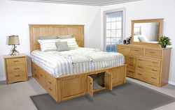 Mission King Captains Bed w/ Storage