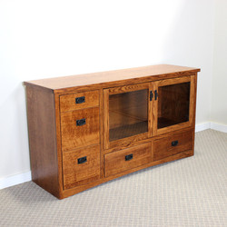 Oak Mission Custom TV Stand