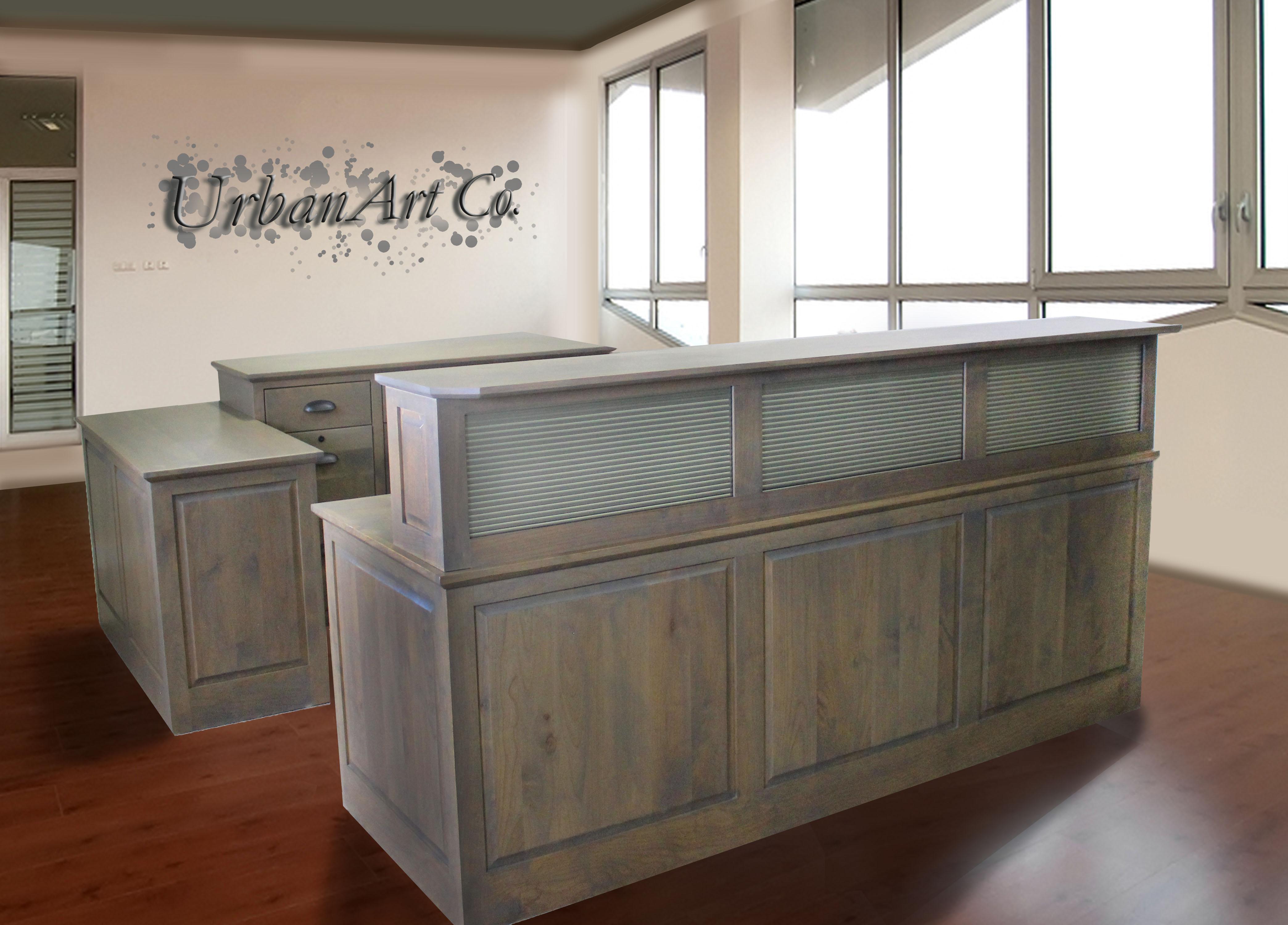 Reception Desk in Alder Driftwood