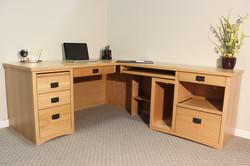 "Custom Mission Style ""L"" Desk"