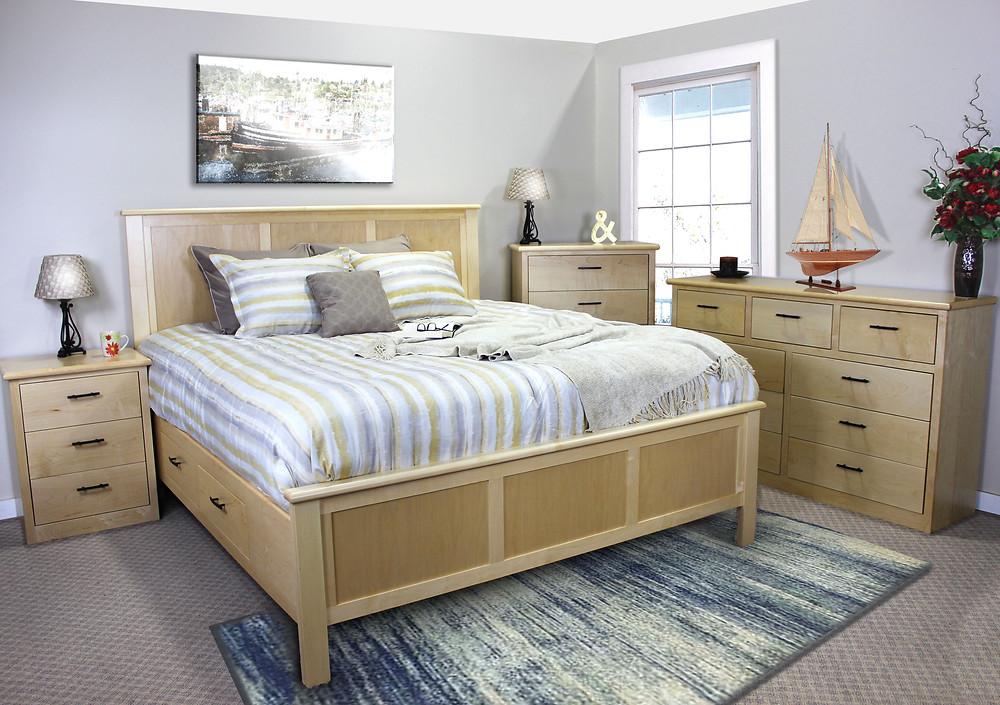King Maple Urban Storage Bed