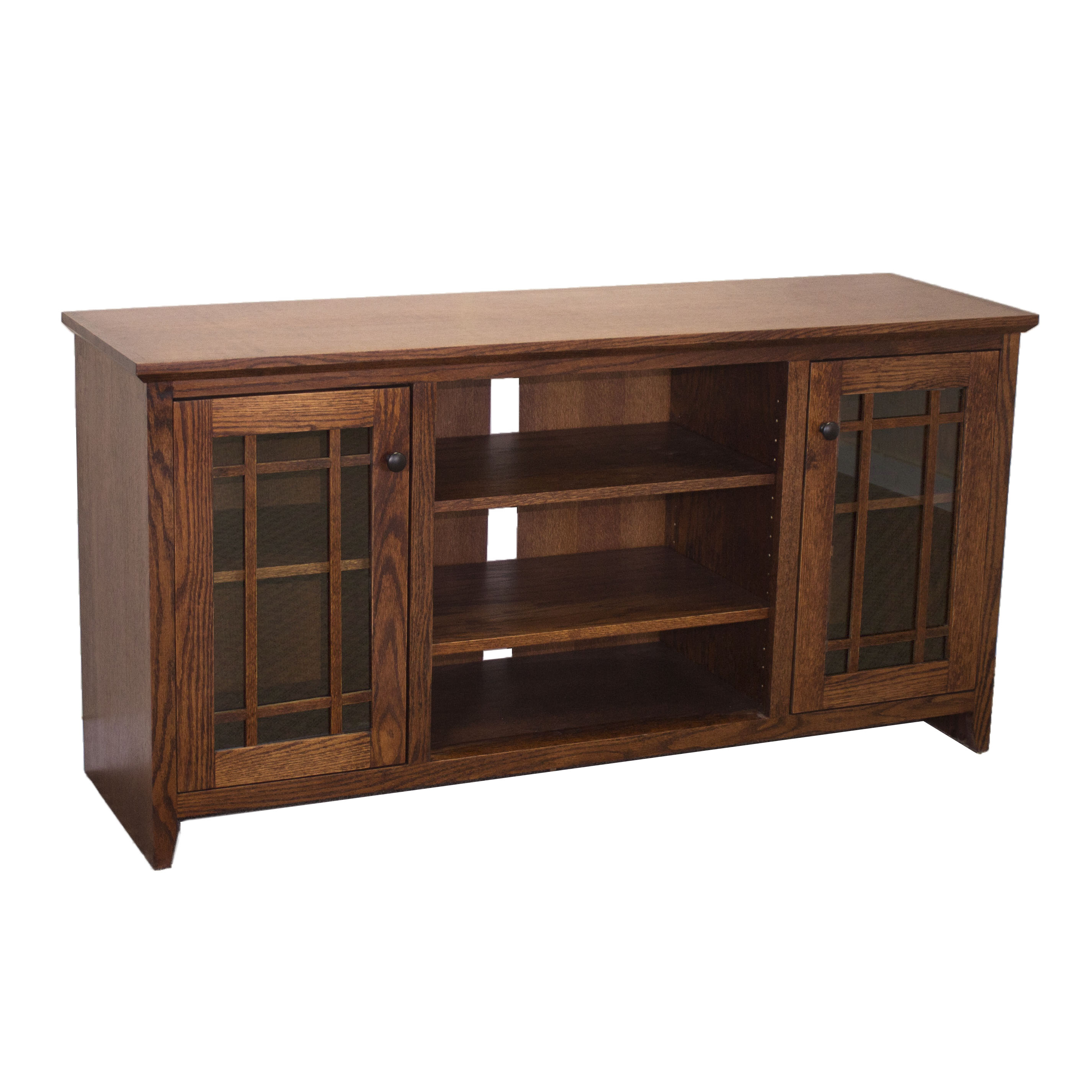 Oak Shaker TV Console w/ Grid