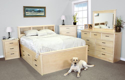 Urban Queen Captains Bed in Natural