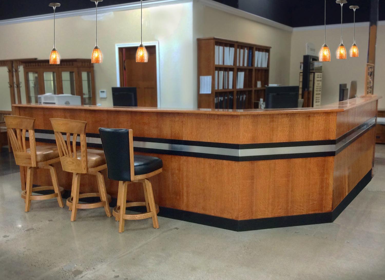 Bar Top Reception Desk