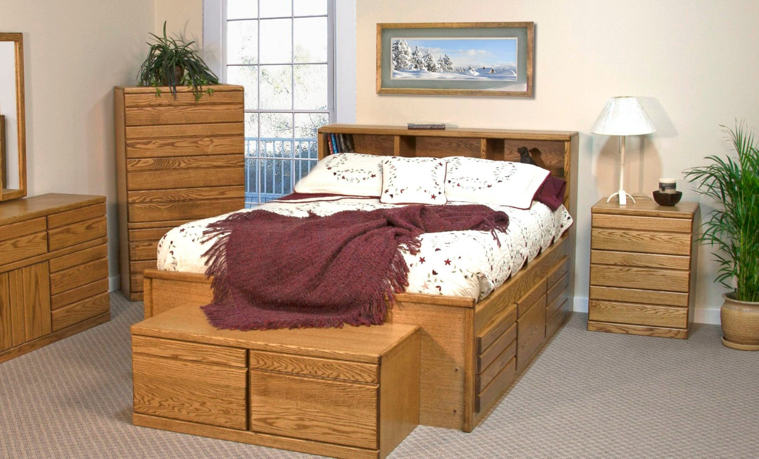 Queen 10-Drw Captains Bed
