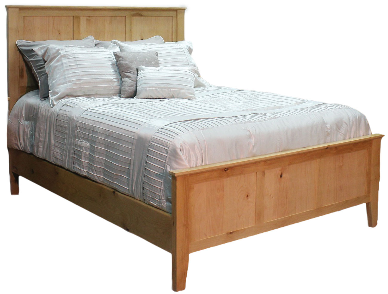 Alder Shaker Queen Bed w/ Panel Ftbd