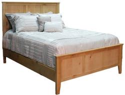 Alder Shaker Queen Bed w/ Panel Ftbd