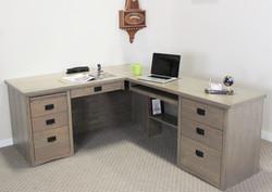 Oak Driftwood Mission L-Shaped Desk