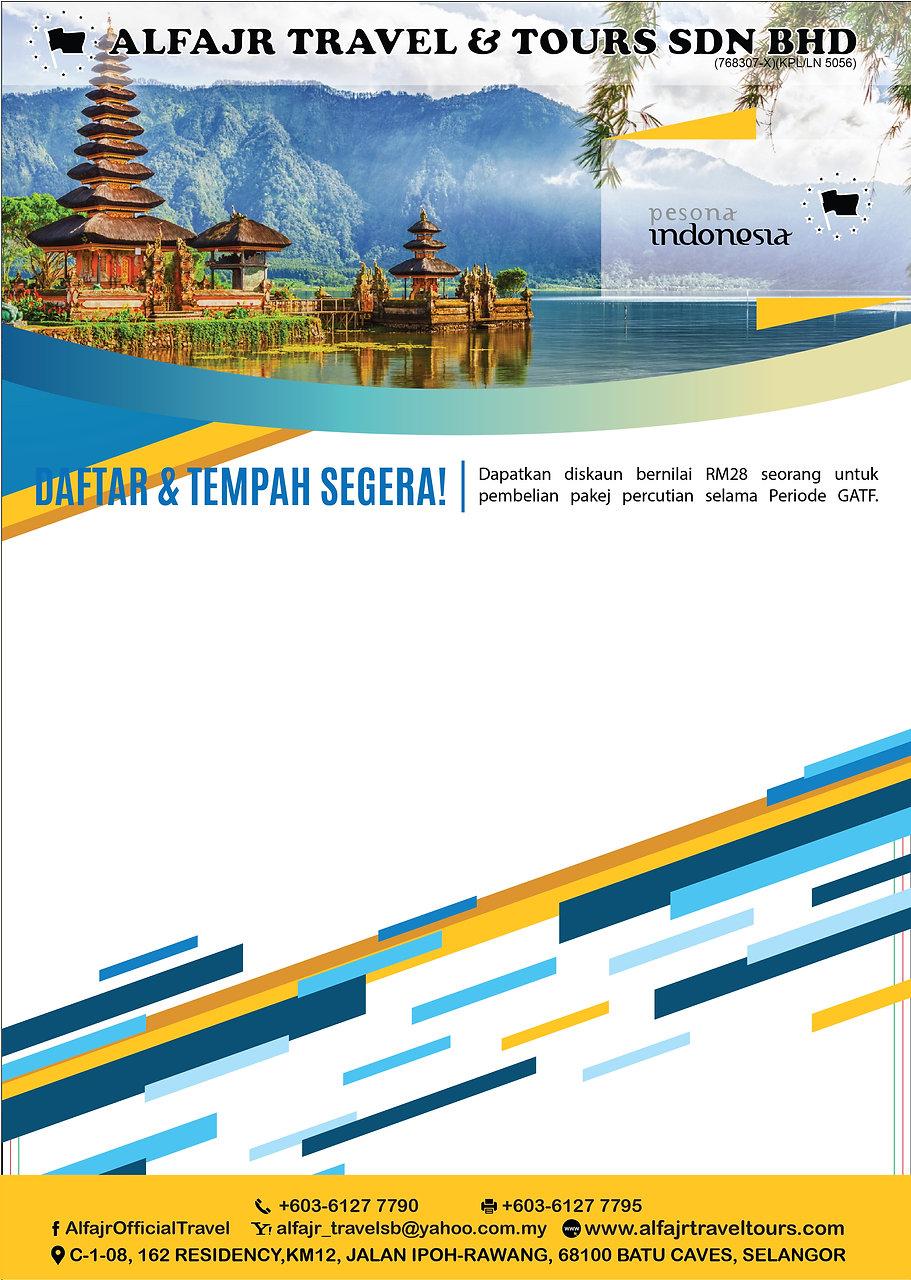 Pesona Indonesia (A4 Size) Flyer Design-