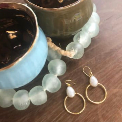 Faceted Moonstone Drops