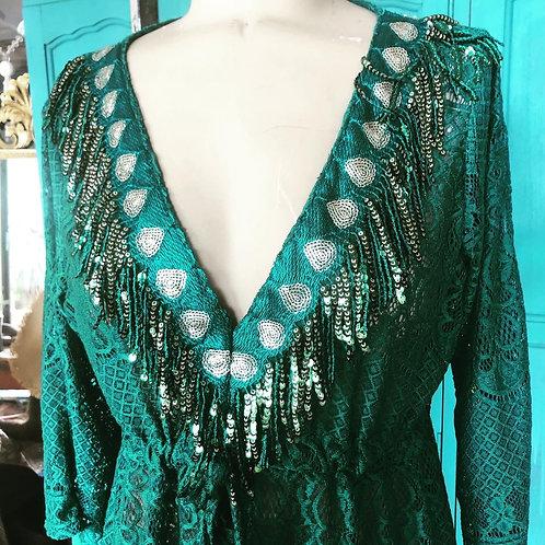 Lace Kaftan - Emerald